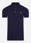 lyle and scott slim fit polo navy