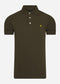 Slim stretch polo - trek green
