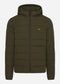Lightweight puffa jacket - trek green