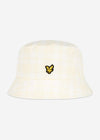 Reversible check bucket hat - white lemon