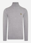 roll neck jumper lyle and scott mid grey marl