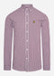 slim fit gingham overhemd lyle and scott