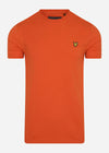 lyle and scott t-shirt oranje