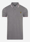 Tipped polo - mid grey marl white