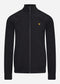 Zip through funnel neck soft shell - jet black