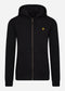 Zip through hoodie - jet black
