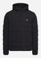 Lightweight puffer jacket - jet black