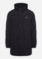 Heavyweight longline puffer jacket - jet black