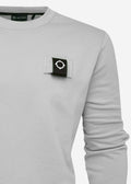 mastrum crewneck sweat silver grey