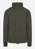 mastrum softshell funnel neck jas oil slick green