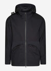 CR hooded parka - jet black