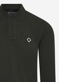mastrum longsleeve polo green oil slick