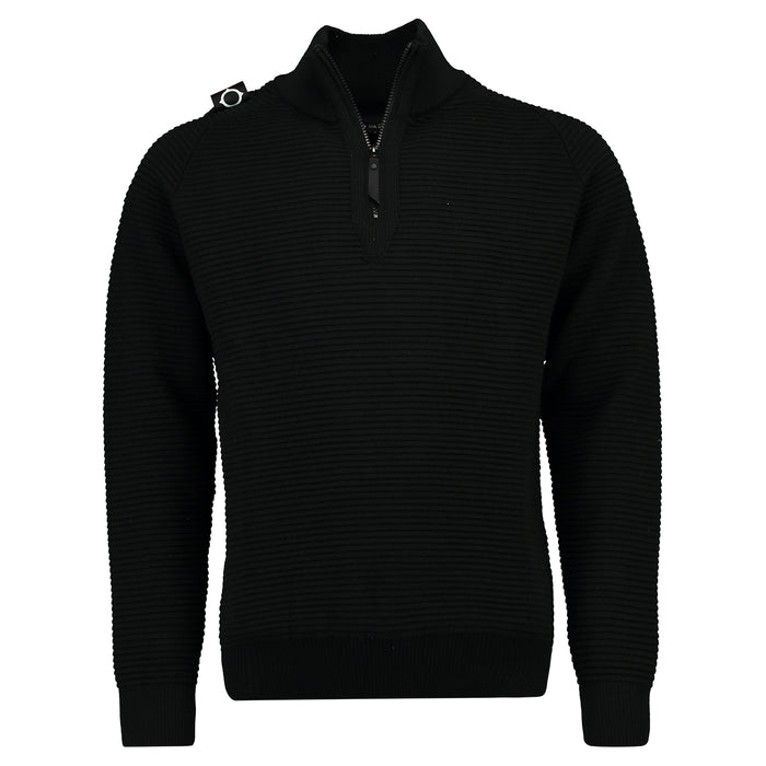 mastrum crewneck trui shoulderbadge