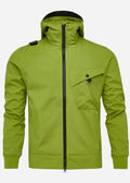 Hooded softshell jacket - malum green