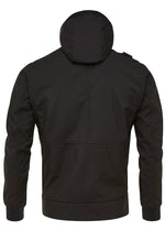 HOODED SOFTSHELL JACKET - JET BLACK