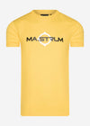 mastrum t-shirt yellow geel