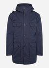 mastrum parka winterjas navy