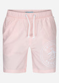 Stamp pete swim short - impatiens pink
