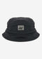 Quilted bucket hat - black