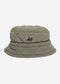 Quilted bucket hat - khaki