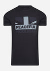 peaceful hooligan t-shirt zwart