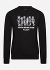 The boys are back in town sweater zwart
