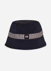 weekend offender bucket hat navy aquascutum
