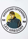 weekend offender t-shirt leo gregory white