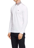 weekend offender longsleeve polo white