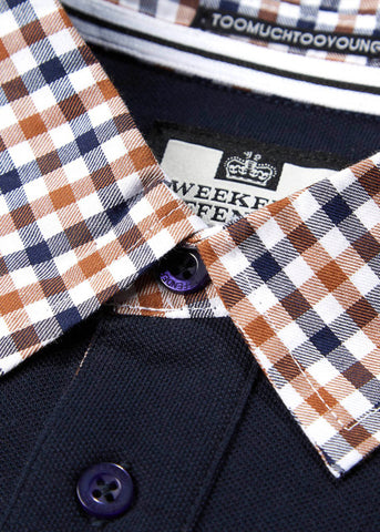 weekend offender polo navy