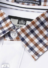 weekend offender polo aquascutum check
