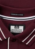 weekend offender polo burgundy