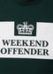 weekend offender prison t-shirt deep forest green