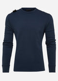 Lightweight gd crew sweat - true navy