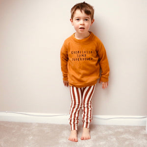 Brown Stripe Baby & Toddler Leggings