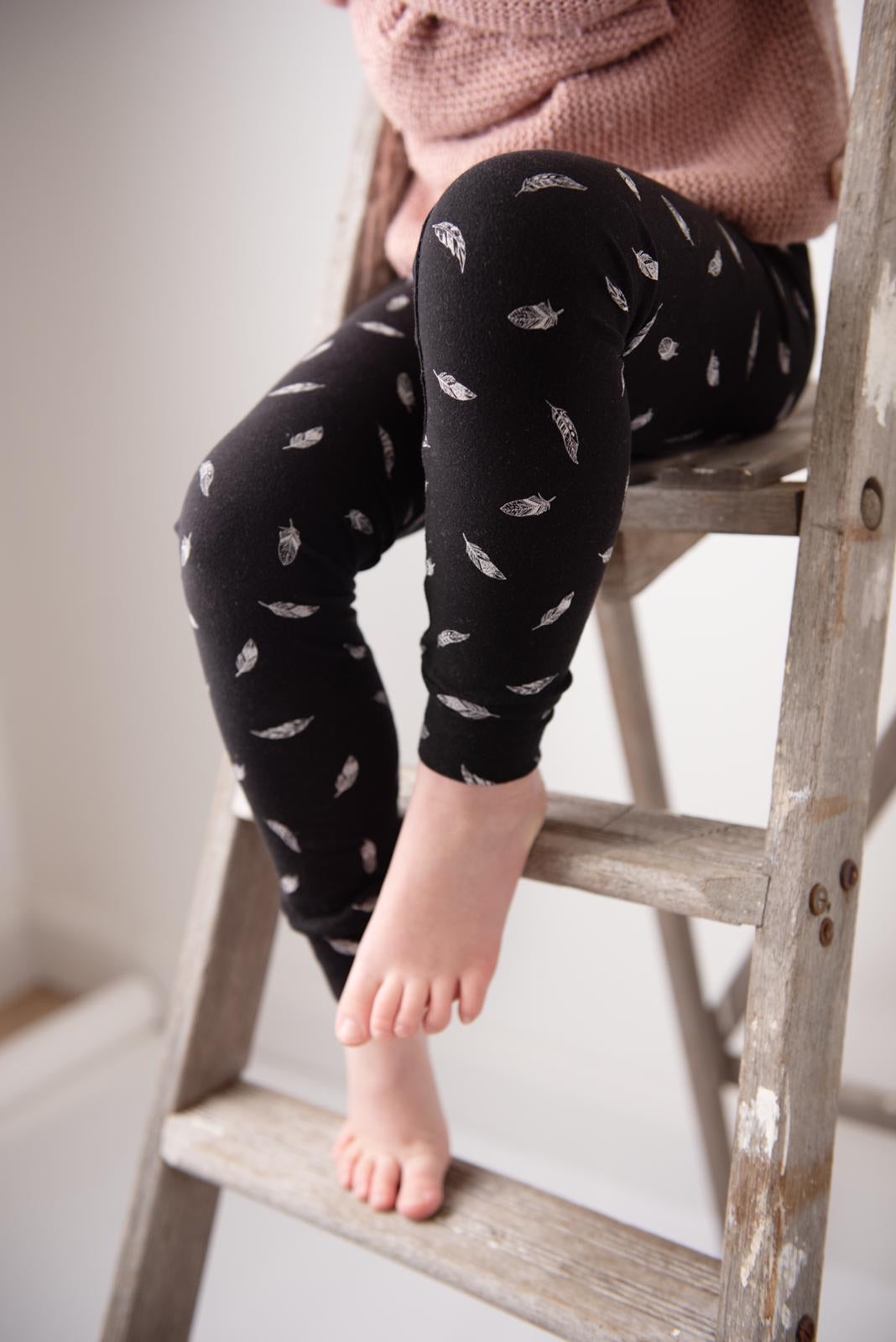 Black Feathers Baby & Toddler Leggings
