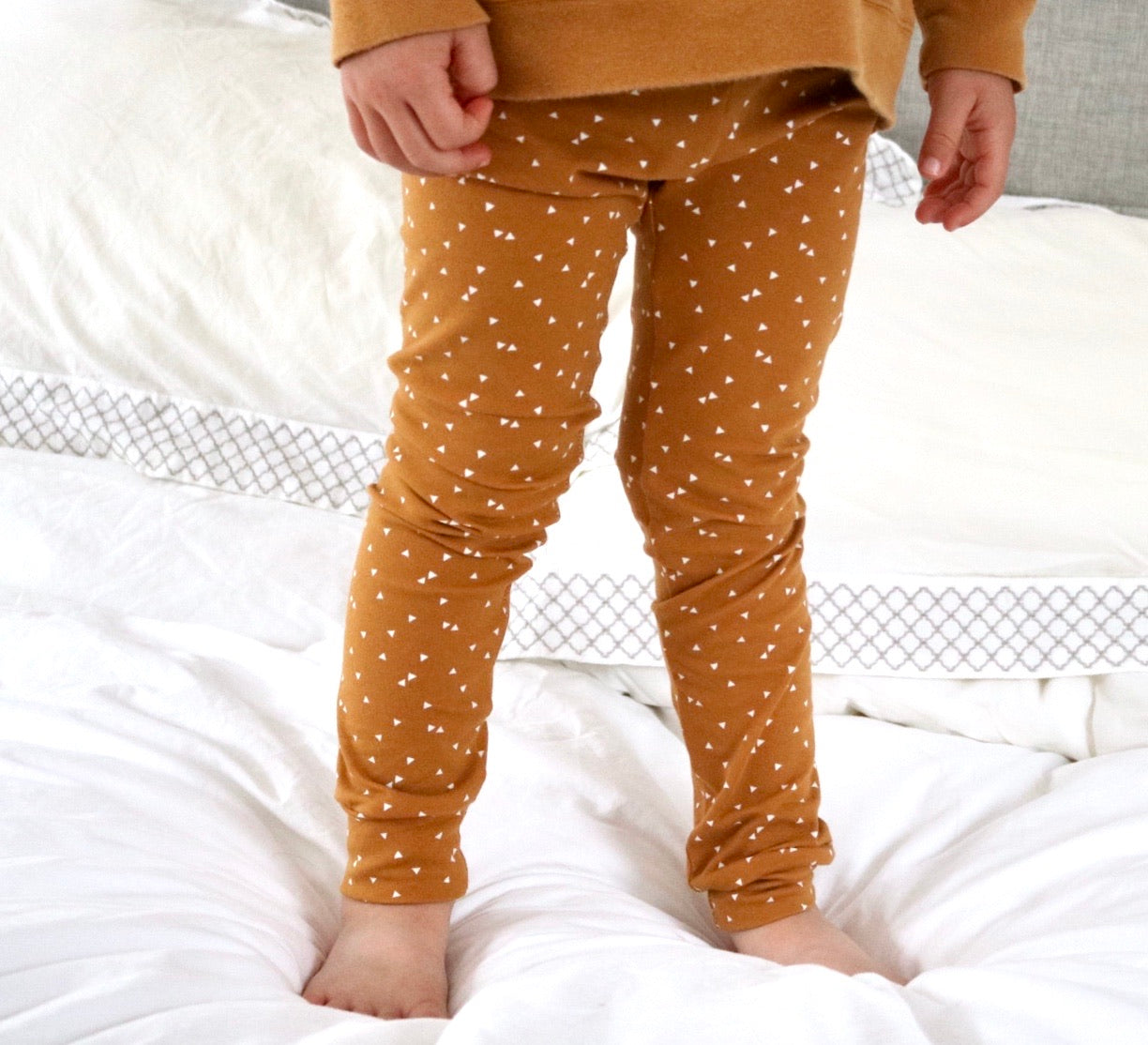 Mustard Triangle Baby & Toddler Leggings