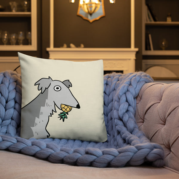 Pineapple Dog Throw Pillow