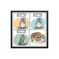 Totoro waits for the NYC subway Framed poster