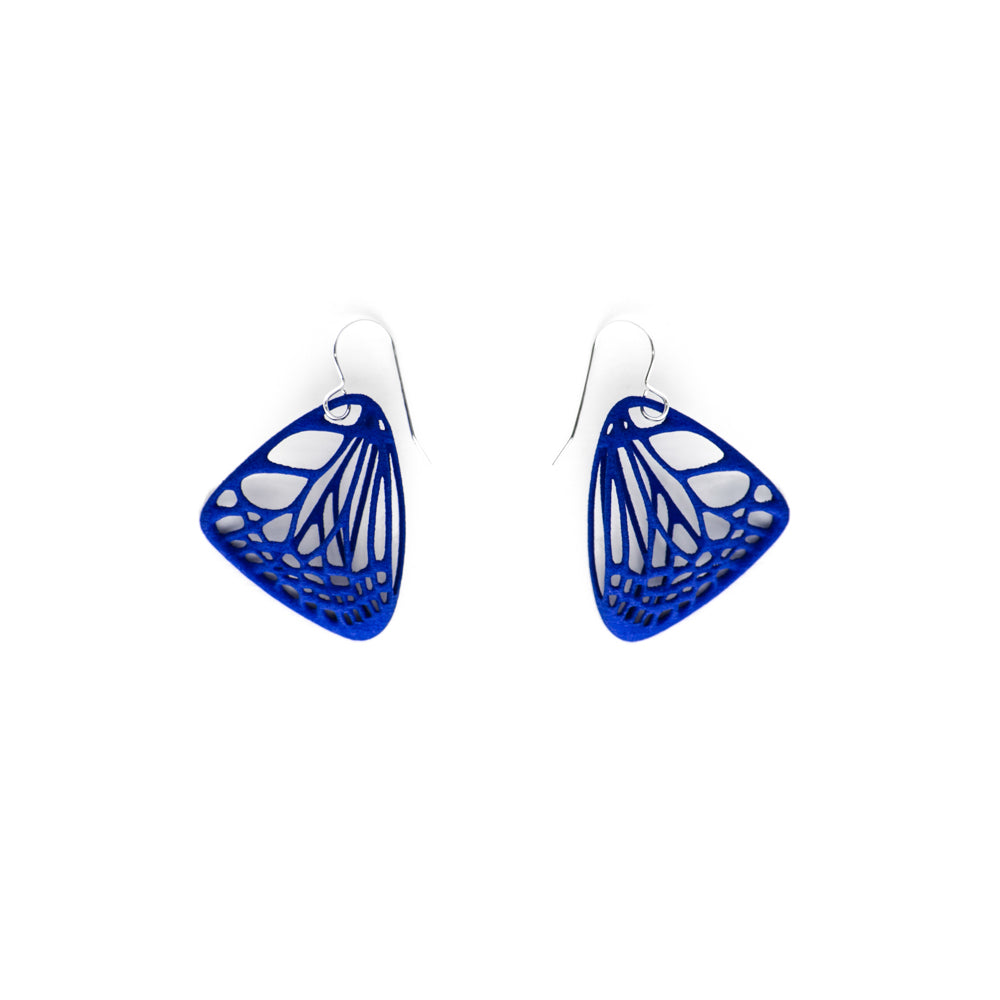 Small Butterfly Earrings - 3D Printed Nylon