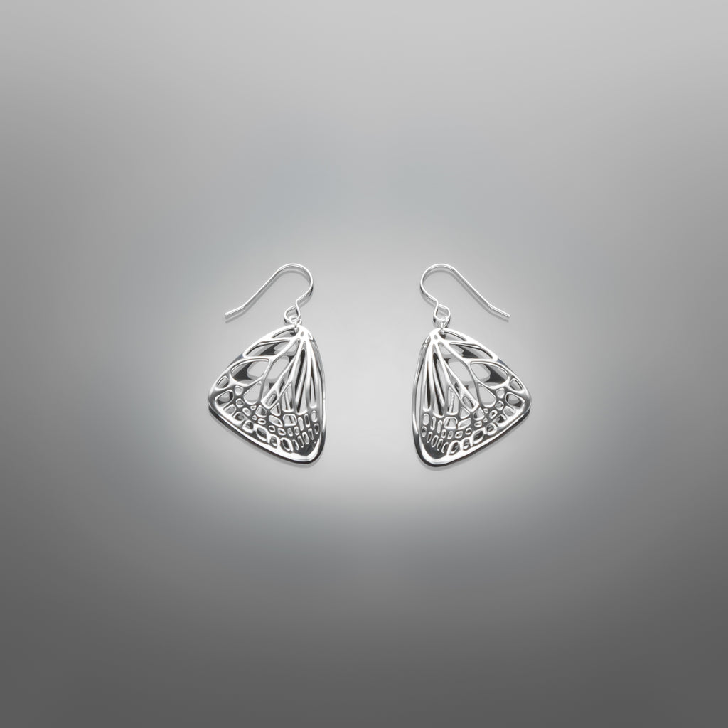 Small Butterfly Earrings in Metals