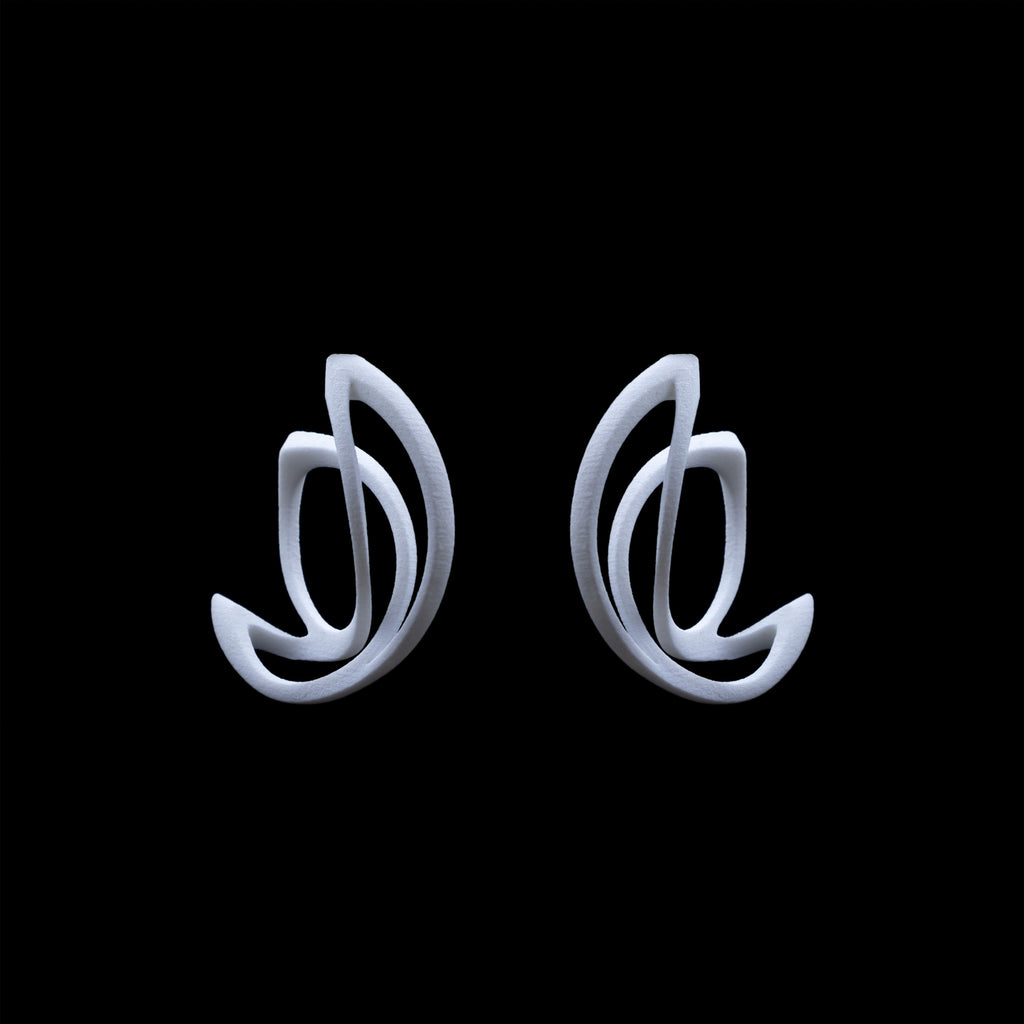 Lotus Hoop Earrings - 3D Printed Nylon