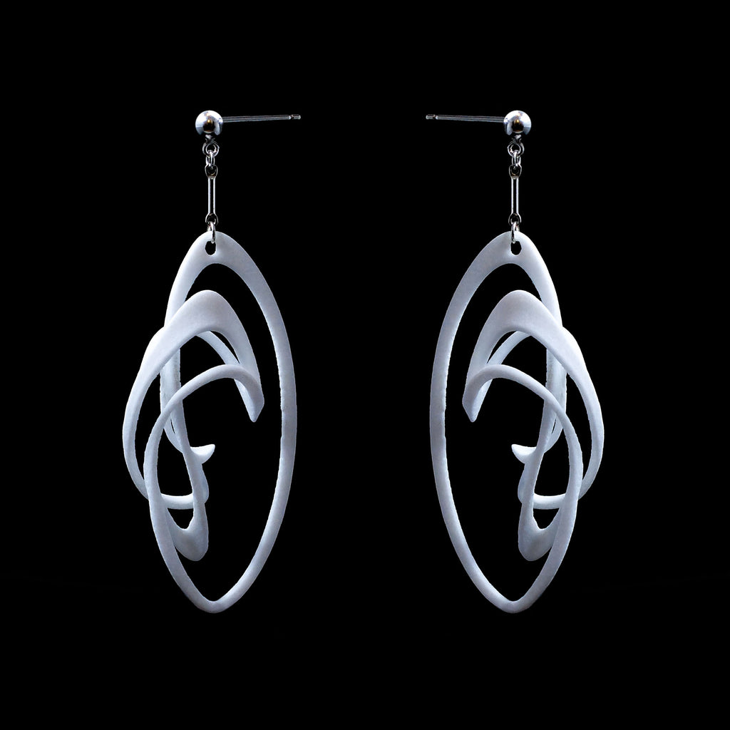 Solar Flare Earrings - 3D Printed Nylon