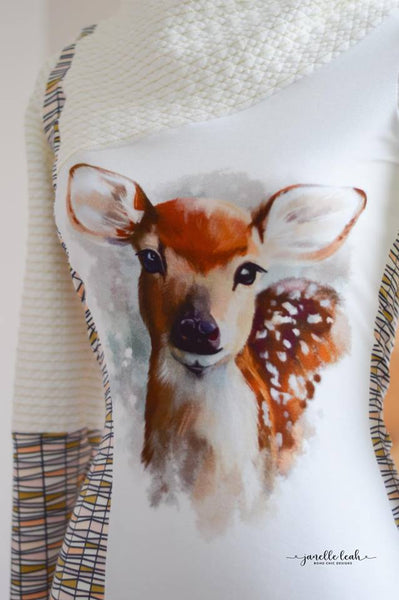 651 Watercolour Deer Child Panel