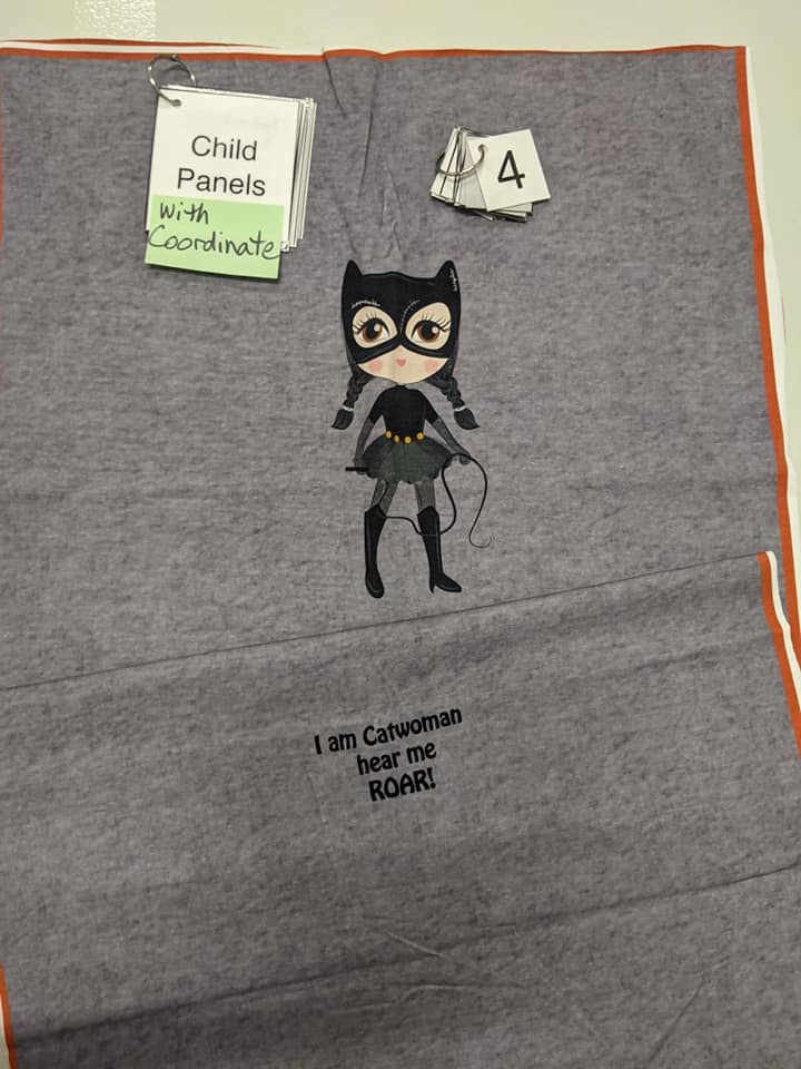 Batgirl Child Panel and Coordinate SET