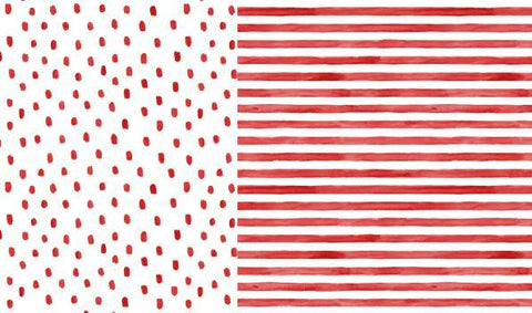 Red Stripes and Dots
