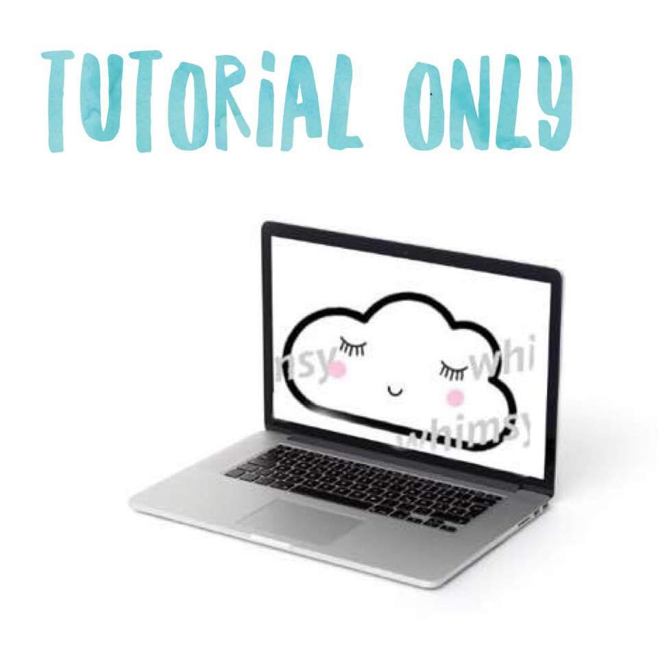 Kawaii Cloud Applique Tutorial Only