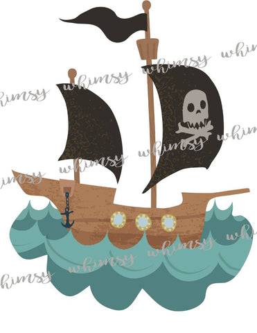 Pirate Ship Applique Kit PRE-ORDER