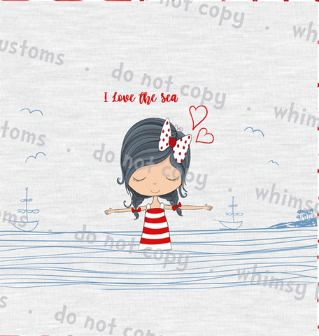 Feb/March 2020 Preorder - Child Panel I love the Sea