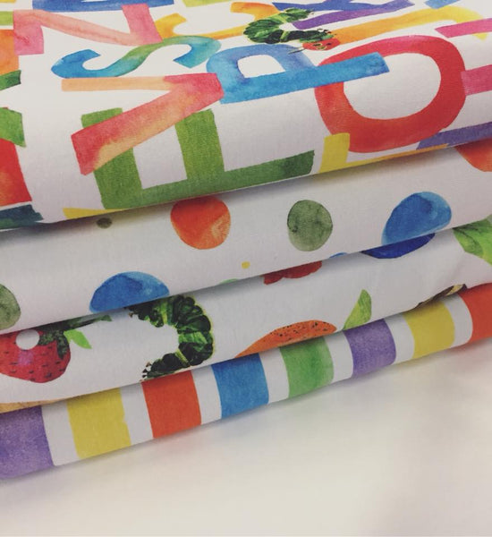 Feed Me Hungry Caterpillar Stripes  Fabric